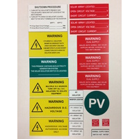 Comprehensive Solar Label Kit (21 Pieces)