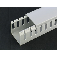 Slotted Trunking UPVC Grey 2m long 40*40mm