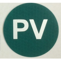 Green PV Reflective Label