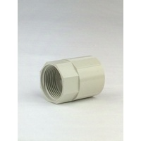 20mm PVC Plain to Female Screw Conduit Coupling