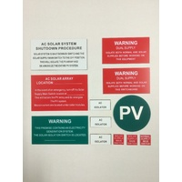 AC Solar Label Kit (12 Pieces)