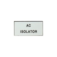 """AC Isolator"" Solar Label"