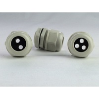 25mm Multi-Hole Nylon Cable Gland Fitting (5-hole grommet)