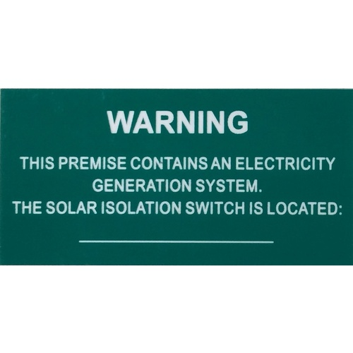 Green Victorian Solar Label