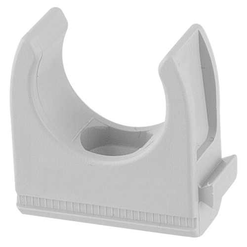 25mm PVC Conduit Clip Fitting, Grey
