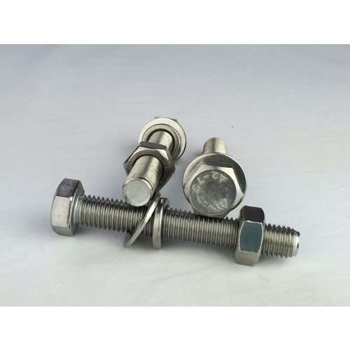 Radiant Ground Screw M16 Stainless Steel Bolt, Nut & Washers